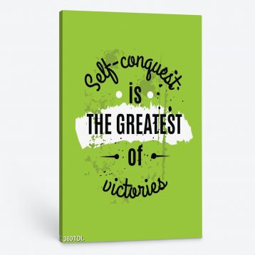 Tranh động lực Self conguert is the greatest of victories 360TDL