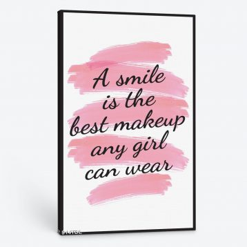 Tranh động lực A smile is the best makeup any girl can wear 914TDL